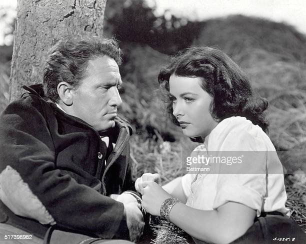 Movie still from the 1942 MGM production of Tortilla Flat, based on the novel by John Steinbeck, directed by Victor Fleming and produced by Sam...