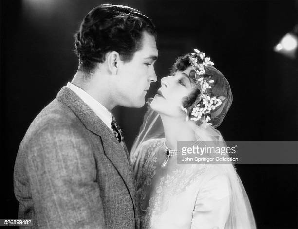 Movie still from the film My Man with Fannie Brice and Guinn Big Boy WilliamsMiss Brice is wearing what appears to be a wedding veil Warner Brother...
