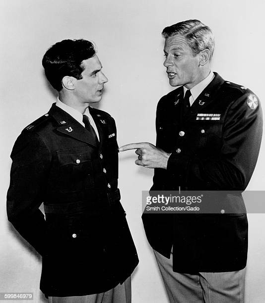 Movie still of Bradford Dillman and Peter Graves during the film Sergeant Ryker, 1968.