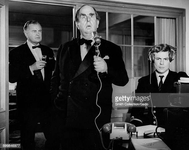 Movie still of Robert Morley during the film When Eight Bells Toll 1971