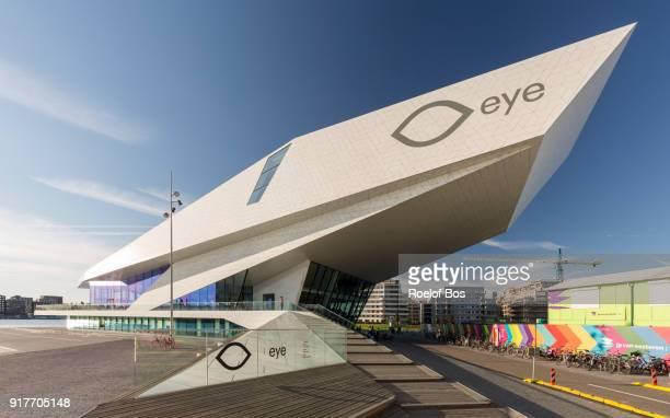 movie theater eye for movement on the north side of river 'het ij' in amsterdam - bos stock pictures, royalty-free photos & images