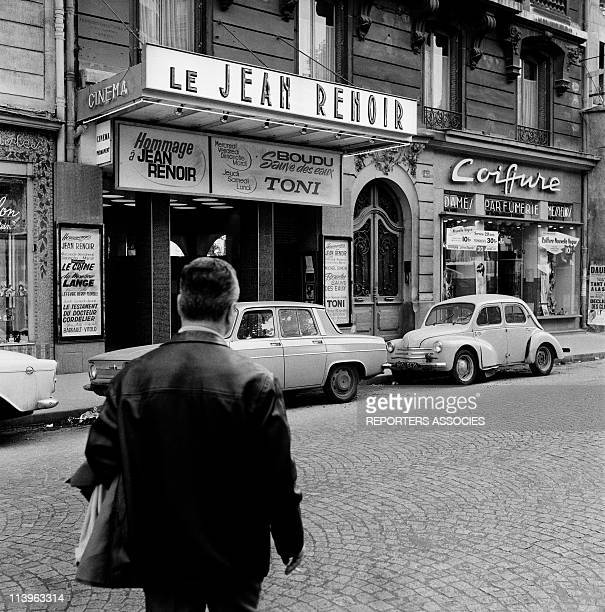 Movie Theater Illustration In Paris France In 1960Movie theater Jean Renoir early sixties