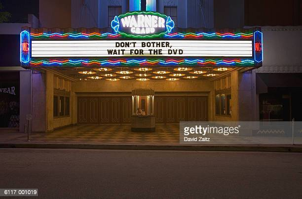 movie theater sign - movie theater stock pictures, royalty-free photos & images