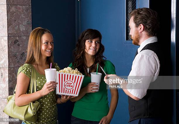 Movie Theater Usher Checking Tickets