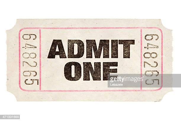 movie ticket - coupon stock photos and pictures