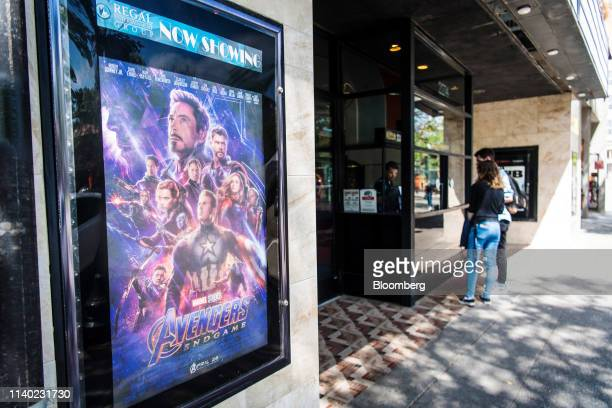 Moviegoers buy tickets for the Avengers Endgame movie in Berkeley California US on Monday April 29 2019 The movie took in $122 billion in its debut...