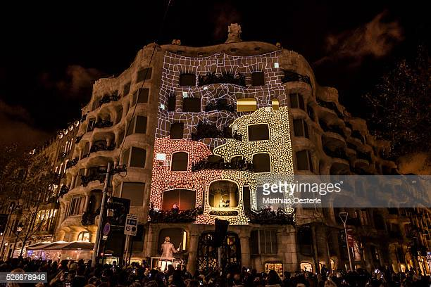 'Moviments Granados' is a spectacle of live music and video mapping featuring the music of Spanish composer Enric Granados at the facade of Gaudi's...