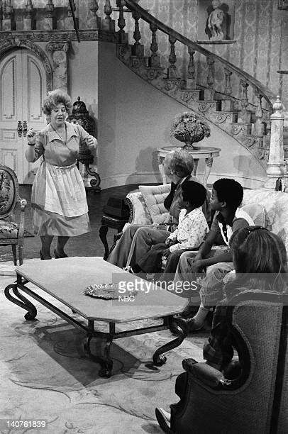 RENT STROKES 'Movin' In' Episode 1 Pictured Charlotte Rae as Edna Garrett Conrad Bain as Philip Drummond Gary Coleman as Arnold Jackson Todd Bridges...