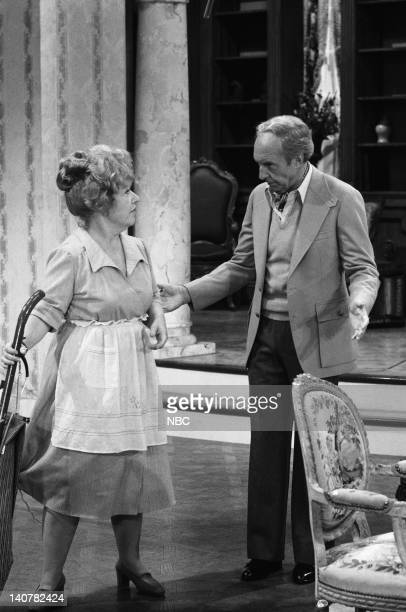 RENT STROKES 'Movin' In' Episode 1 Pictured Charlotte Rae as Edna Garrett Conrad Bain as Philip Drummond Photo by Herb Ball/NBC/NBCU Photo Bank