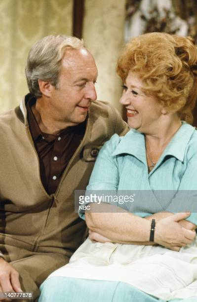 RENT STROKES 'Movin' In' Episode 1 Pictured Conrad Bain as Philip Drummond Charlotte Rae as Edna Garrett Photo by Herb Ball/NBC/NBCU Photo Bank