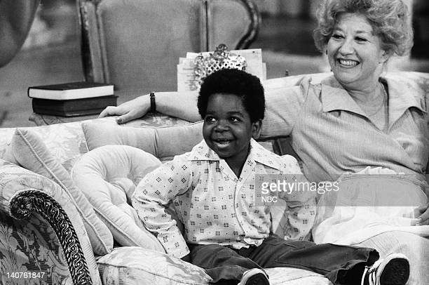 RENT STROKES 'Movin' In' Episode 1 Pictured Gary Coleman as Arnold Jackson Charlotte Rae as Edna Garrett Photo by Herb Ball/NBC/NBCU Photo Bank