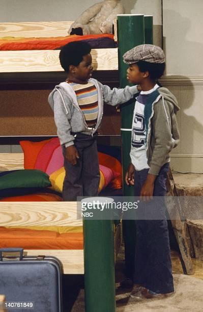 RENT STROKES Movin' In Episode 1 Pictured Gary Coleman as Arnold Jackson Todd Bridges as Willis Jackson Photo by Herb Ball/NBC/NBCU Photo Bank