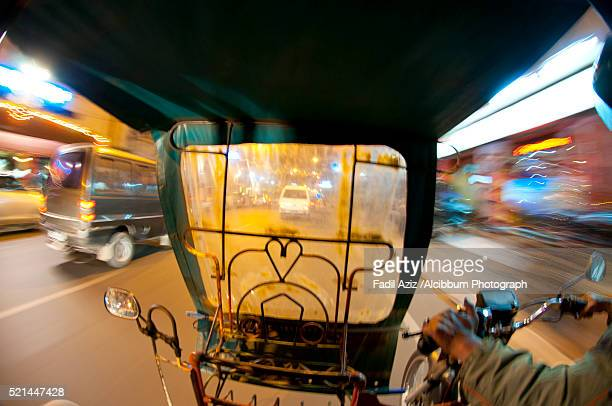 Moving Around Medan City With Betor (Becak-Motor in Indonesian or Motorized Pedicab)