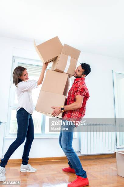 moving boxes - carrying stock pictures, royalty-free photos & images