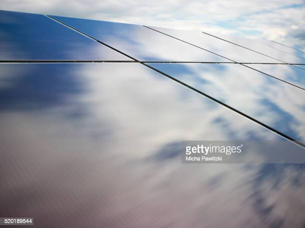 Moving Clouds reflected on Solar Panels