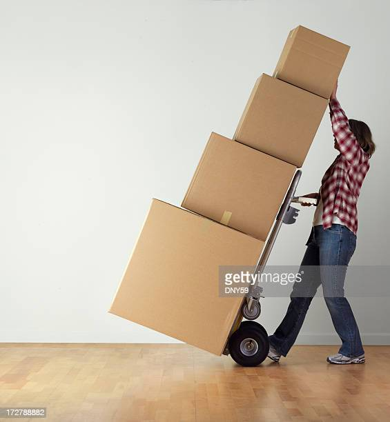 moving day - sack barrow stock pictures, royalty-free photos & images