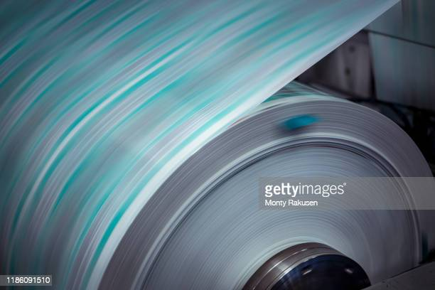 moving food packaging in printer in print factory - packaging stock pictures, royalty-free photos & images