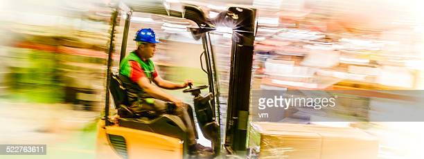 Moving Forklift in a Warehouse