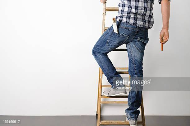 moving house - step ladder stock photos and pictures