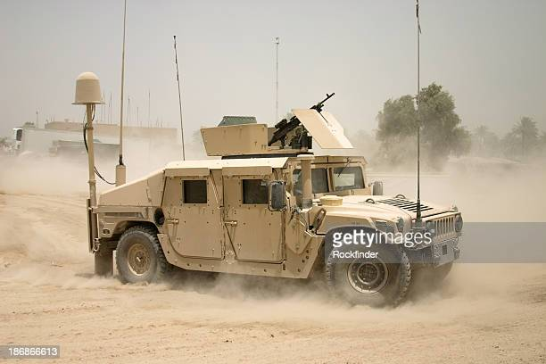 Moving Humvee