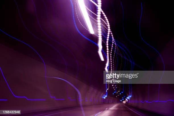 moving image of a tunnel. bandwidth. - graphic accident photos stock pictures, royalty-free photos & images