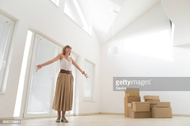 moving into the new apartment - women wearing nothing stock photos and pictures