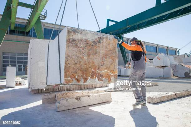Moving marble blocks