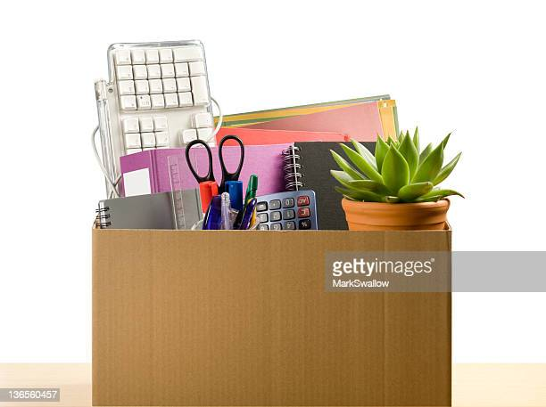 moving office - downsizing unemployment stock pictures, royalty-free photos & images