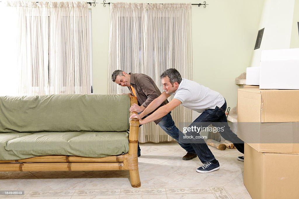 Moving Sofa Stock Photo