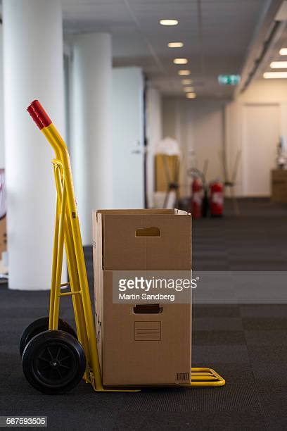 moving the office - dolly martin stock photos and pictures