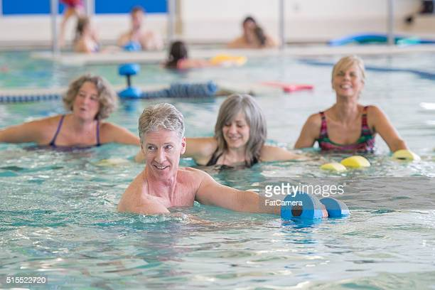Moving Through the Water in a Fitness Class