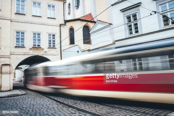 Bewegliche Straßenbahn in Prag
