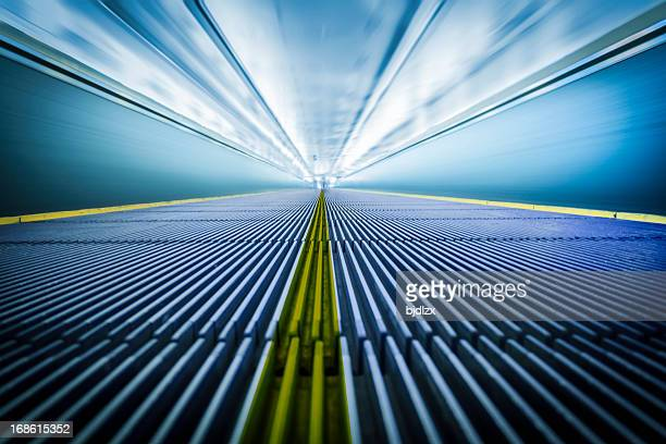 moving walkway at the airport - travolator stock pictures, royalty-free photos & images