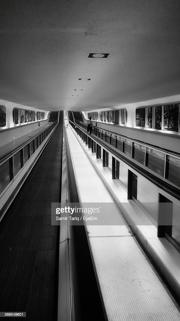 Moving Walkway In Airport : Stock Photo