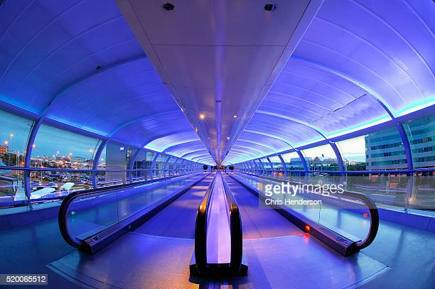 Moving Walkway in Manchester Airport