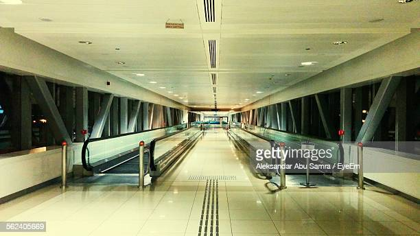 Moving Walkway On Airport