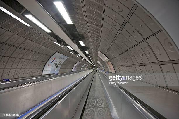 Moving walkways on the underground, London, United Kingdom