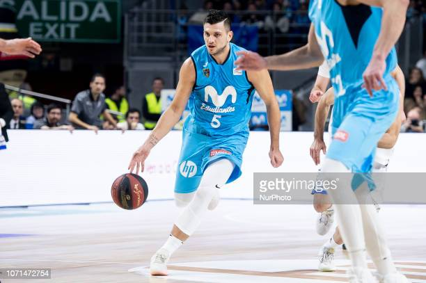 Movistar Estudiantes Alessandro Gentile during Liga Endesa match between Movistar Estudiantes and San Pablo Burgos at Wizink Center in Madrid Spain...
