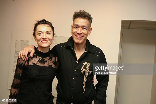 Movnyga and Andres Serrano attend HIGH TEA FOR THE PREMIERE OF GALERIE MARK HOSTED BY ALEXICO GROUP JACQUES GRANGE PIERRE PASSEBON at Gallerie Mark...