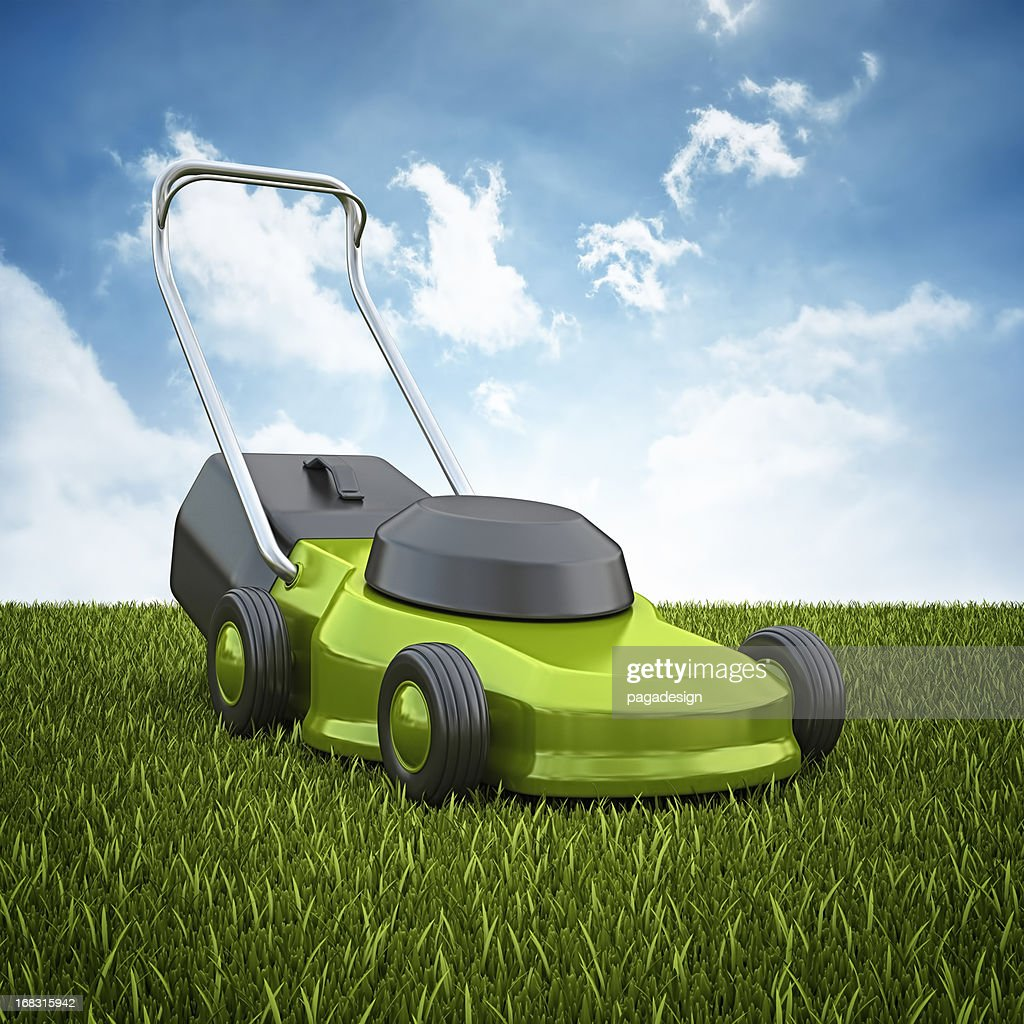 mower on the horizont : Stock Photo