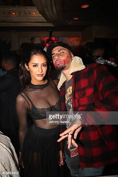 Moxie Raia and Amir Obe attend Night Of The Living Dead at The Box on October 31 2016 in New York City
