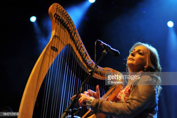 Moya Brennan of Clannad performs on stage at O2 Shepherd's Bush Empire on March 20 2013 in London England