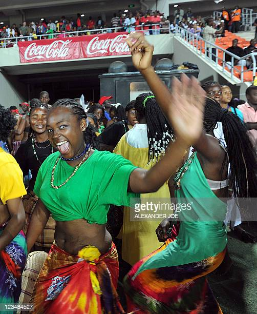 Mozambican dancers perform during the opening the 10th AllAfrica Games in Maputo on September 3 2011 President of Mozambique Armando Guebuza opened...