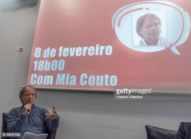Mozambican writer Antonio Emlio Leite Couto better known as Mia Couto speaks to the public during Camoes Institute program of conferences Camoes da...