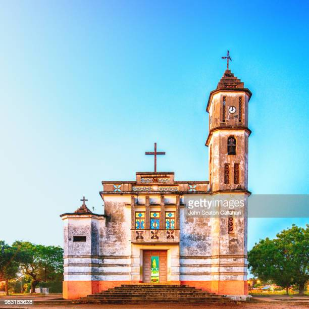mozambique, angoche, catholic church - traditionally portuguese stock pictures, royalty-free photos & images