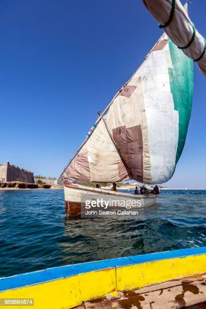 mozambique island, sailing dhows - nampula province stock pictures, royalty-free photos & images