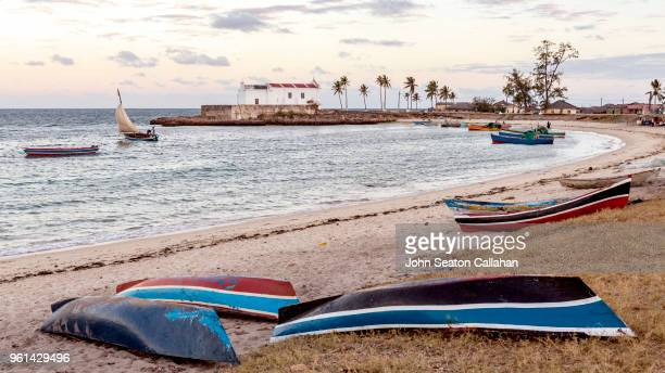 mozambique island, the santo antonio church - mozambique stock pictures, royalty-free photos & images