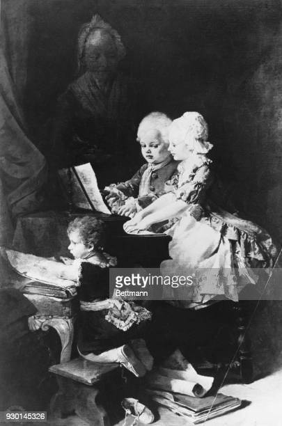 Mozart and his sister by H Schneider