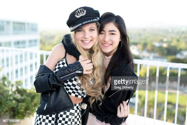 Mozart Dee and Kirsten Li attends the Bianca And Chiara D'Ambrosio Celebrate Their 13th Birthday Party at The Beverly Hilton Hotel on June 3 2018 in...