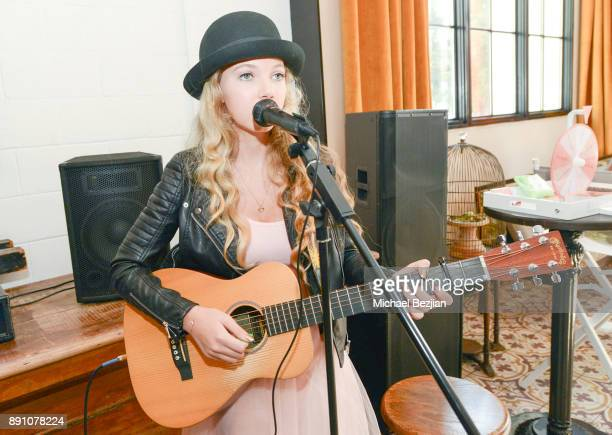 Mozart Dee performs at Girl Guild Debuts with a Strong Mission and Support of Young Influencers at Palihouse West Hollywood on November 19 2017 in...